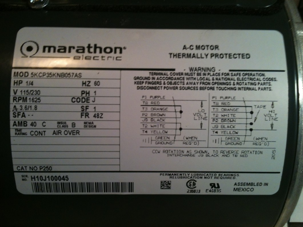 Wiring Diagram For A Single Phase Motor 230 V The. Marathon Electric Wiring  Diagram