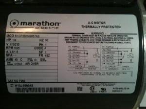 hi, i just bought a Marathon Electric AC motor, HP: 14 V