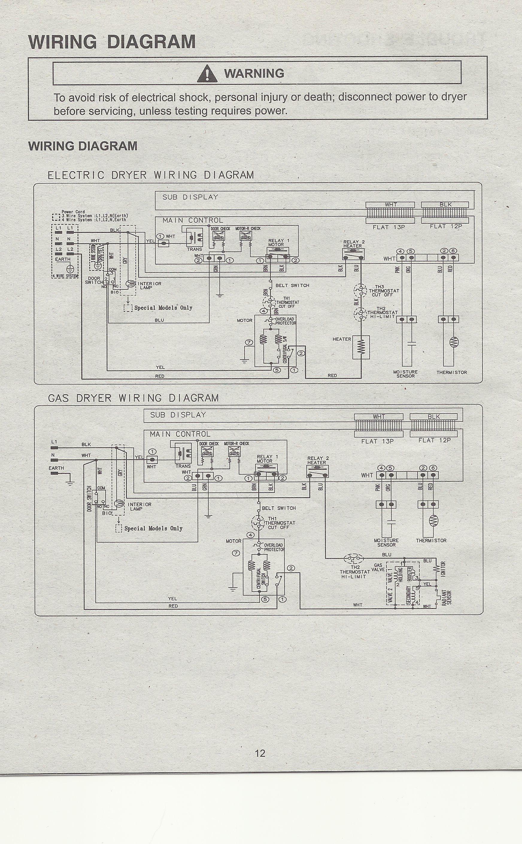 4 Wire Dryer Wiring Diagram