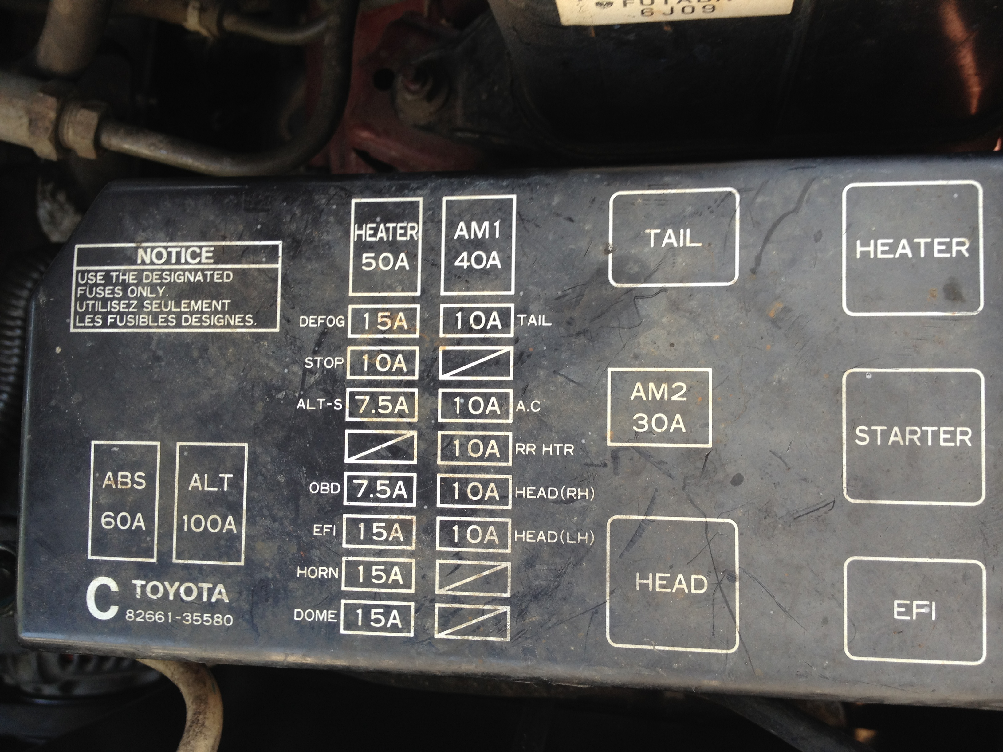 1995 Toyotum Tacoma Fuse Box Diagram