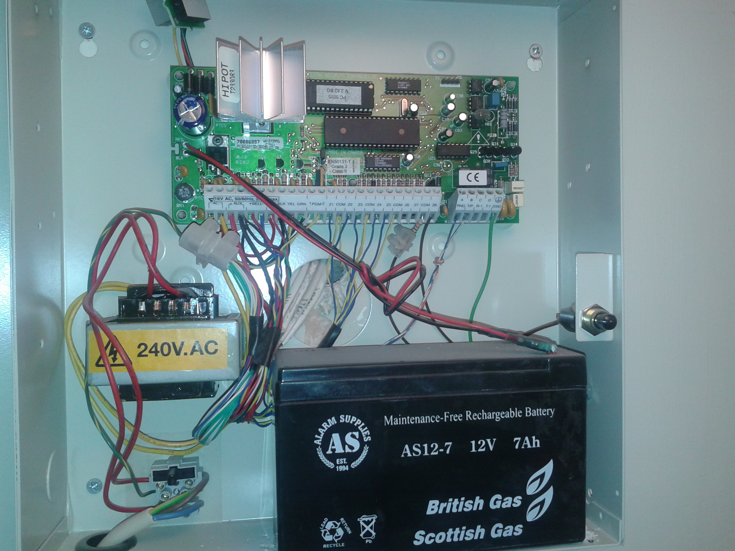 I Have A Dcs British Gas Kp Z Alarm System On A House I