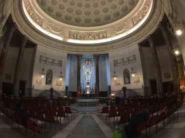 Turin Italy: Chiesa della Gran Madre di Dio inside
