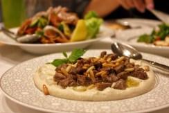 Hoummous with tender lamb loin at Mijana, The Ritz-Carlton Abu Dhabi