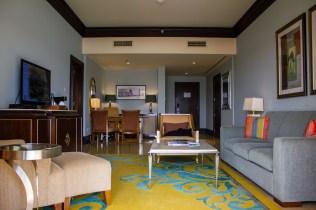 Spacious living area at The Ritz-Carlton Abu Dhabi