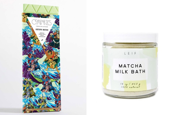 Compartes Chocolate and LEIF Matcha Milk Bath