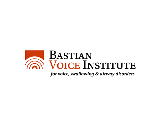 medical corporate identity logo bastian voice black orange throat