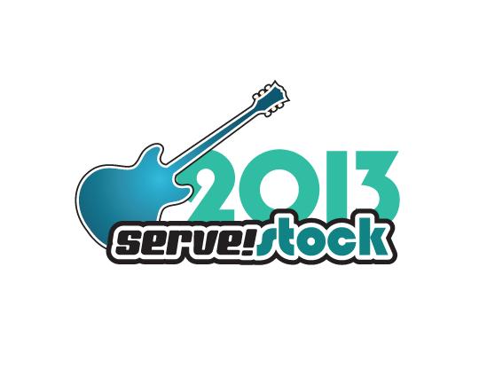nonprofit logo and branding for servestock event
