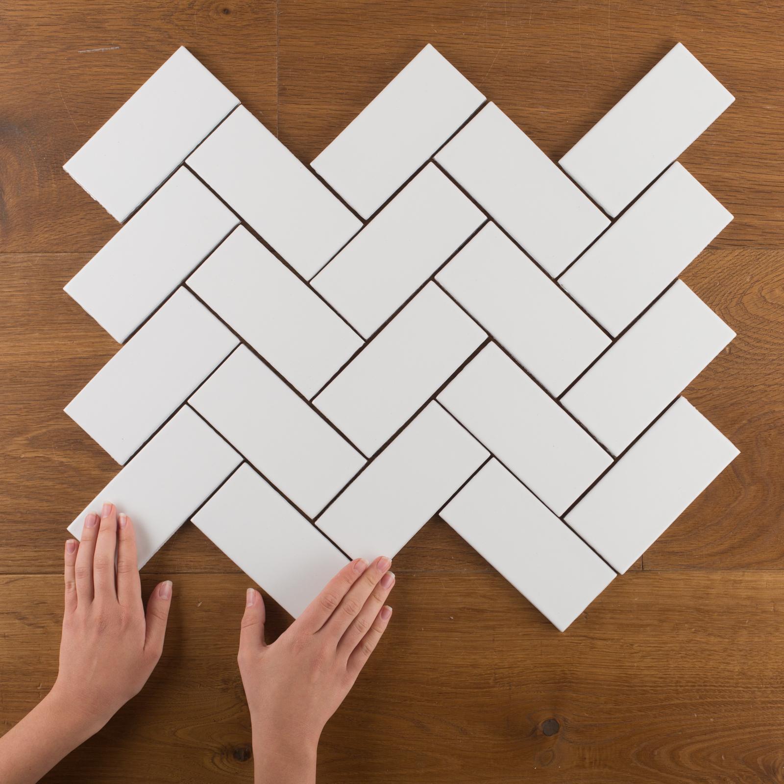 white subway tile fireclay tile