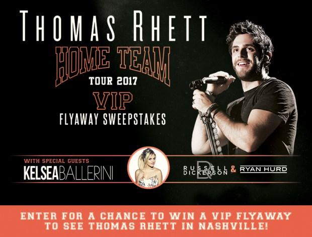Thomas Rhett VIP Flyaway Sweepstakes