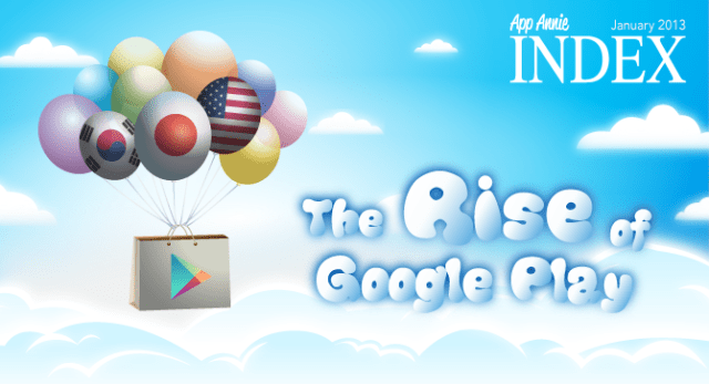 The Rise of Google Play: App Annie Index January 2013
