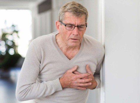Man struggling because of a blood clot