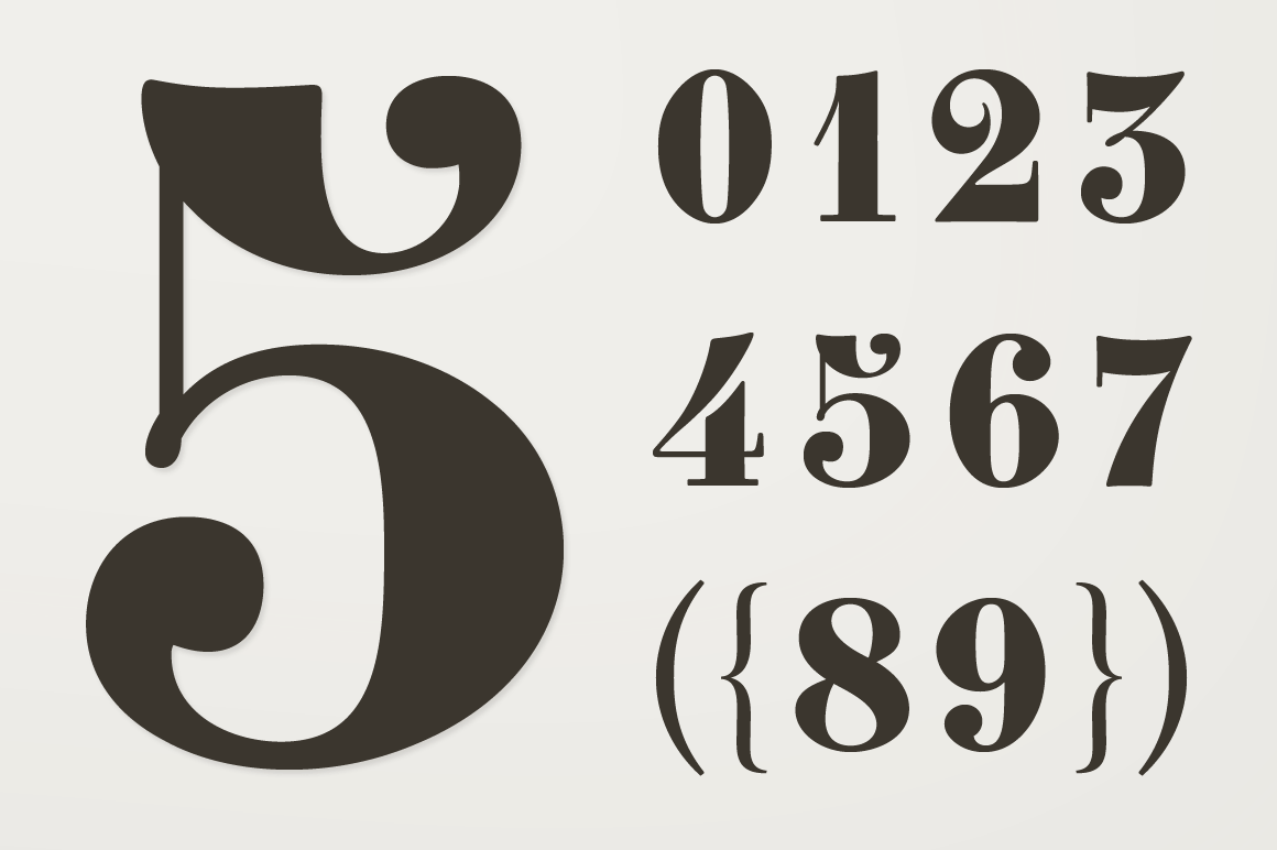 Clement Numbers Symbol Fonts On Creative Market
