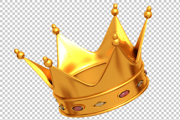 Golden Crown 3D Render PNG Graphics On Creative Market
