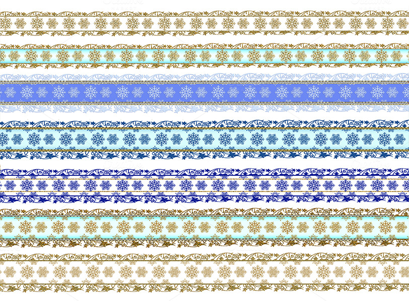 Christmas Snowflake Scrapbook Border Patterns On