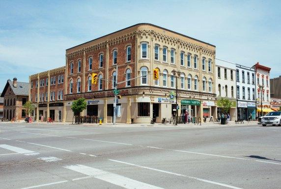 Centro de la ciudad de Lindsay, Ontario.