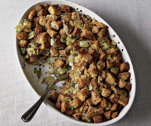 Bread Stuffing with Fresh Herbs   Recipe   FineCooking Bread Stuffing with Fresh Herbs