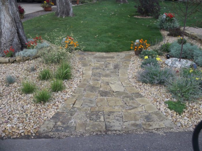 David's front-yard rock garden in Colorado (Day 1 of 2 in ... on Rocks In Backyard  id=48461