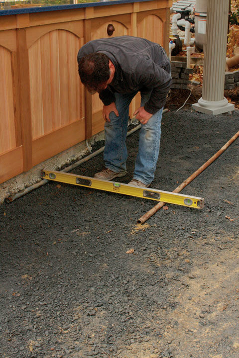 how to build a patio in a weekend
