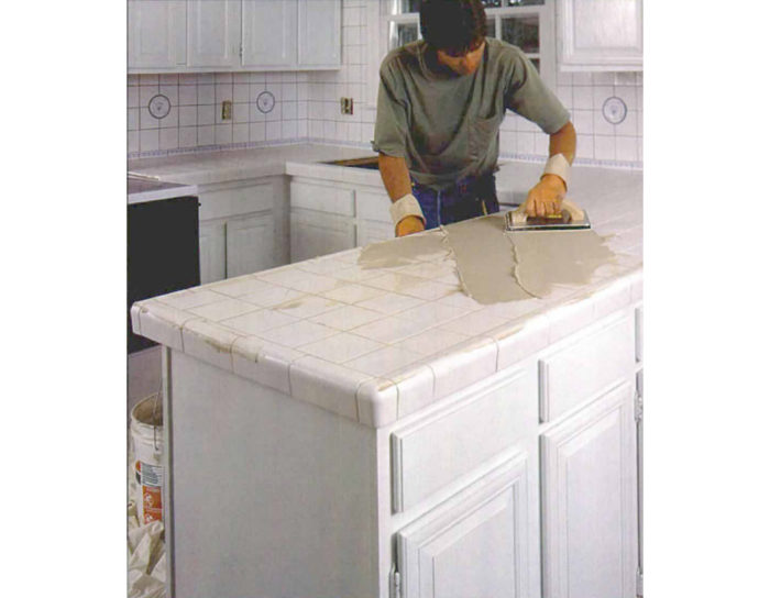 tiling over a laminate counter fine