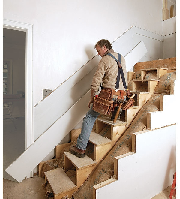 Finish Stairs With Finesse Fine Homebuilding | Cost Of Staining Stairs | Stair Railings | Hardwood | Stair Tread | Handrail | Basement Stairs