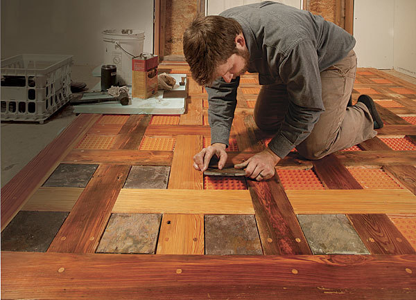 weaving wood and tile into a stunning