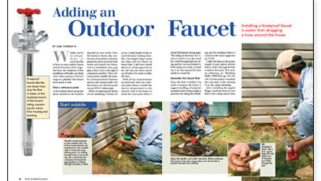 adding an outdoor faucet fine
