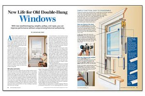 New Life for Old DoubleHung Windows  Fine Homebuilding