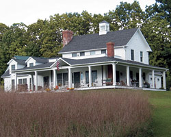 Adding the Perfect Porch   Fine Homebuilding A deep  open wraparound porch allowed the house to embrace the fields  surrounding it  To punctuate the long span of the roof and bring additional  light into
