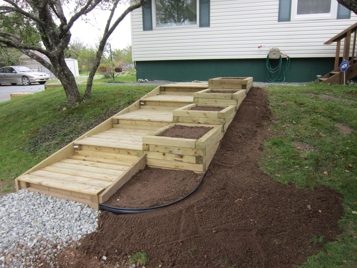 Steps And Planter Boxes