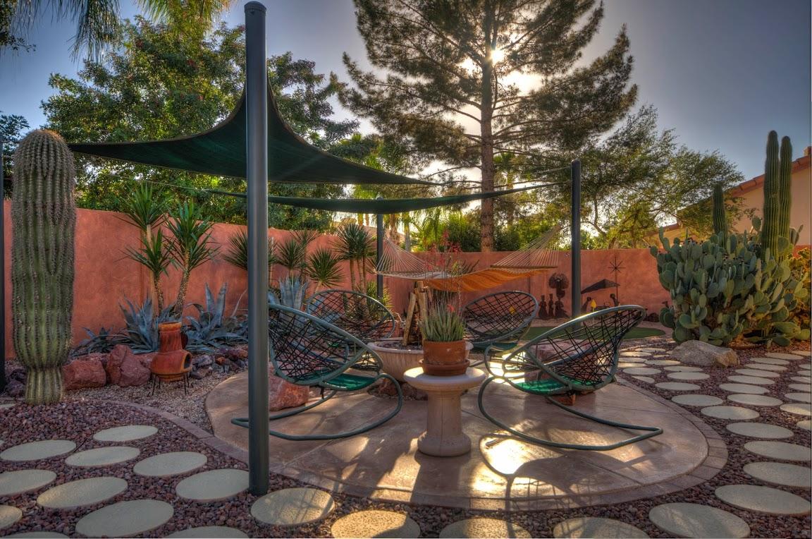 Desert Backyard Firepit - Fine Homebuilding on Desert Landscape Ideas For Backyards id=97613