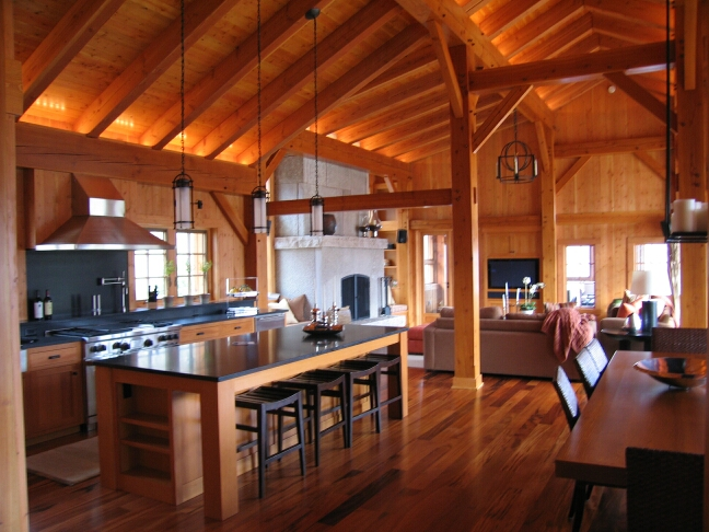 Timber Frame On Lake Sylvia MN Fine Homebuilding