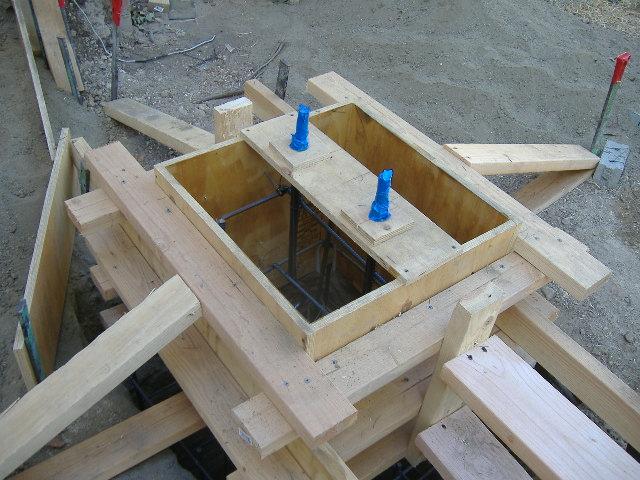 form a custom concrete pier for a porch