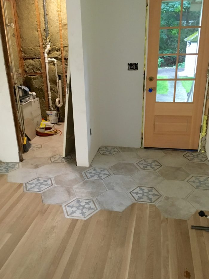 organic transition wood to tile fine