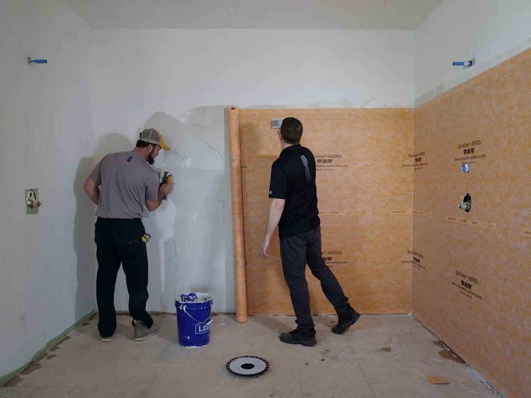 prepping for tile fine homebuilding