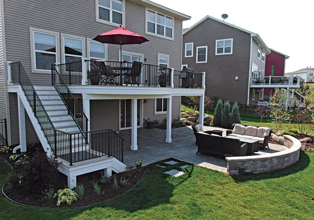 Second-Floor Deck Ideas - Fine Homebuilding on Deck Over Patio Ideas id=87852