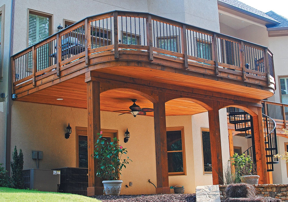 Second Floor Deck Ideas Fine Homebuilding | Outside Stairs To Second Floor | Steel | Entrance | Staircase | Patio | Deck