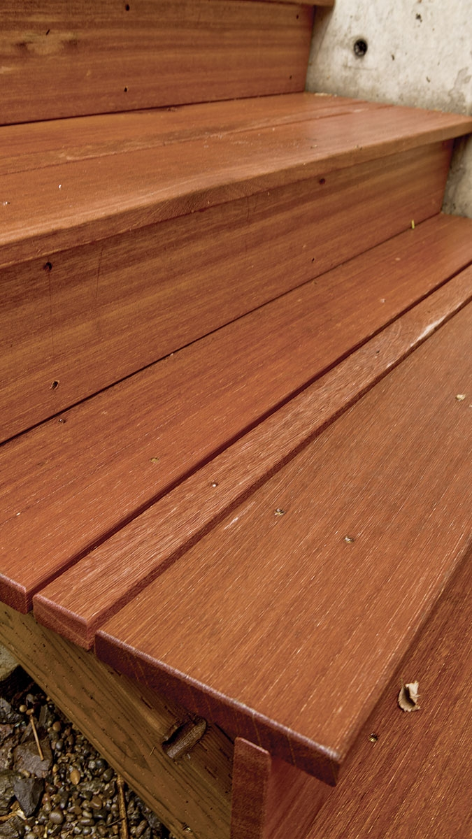 Securing Deck Stair Treads Fine Homebuilding | Composite Exterior Stair Treads | Blocking | Indoor | Deck Trex | Picture Framing | Patio
