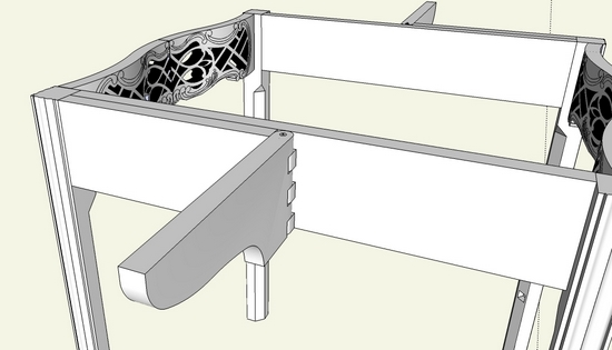 Making The Wooden Hinged Table Leaf Support In Sketchup