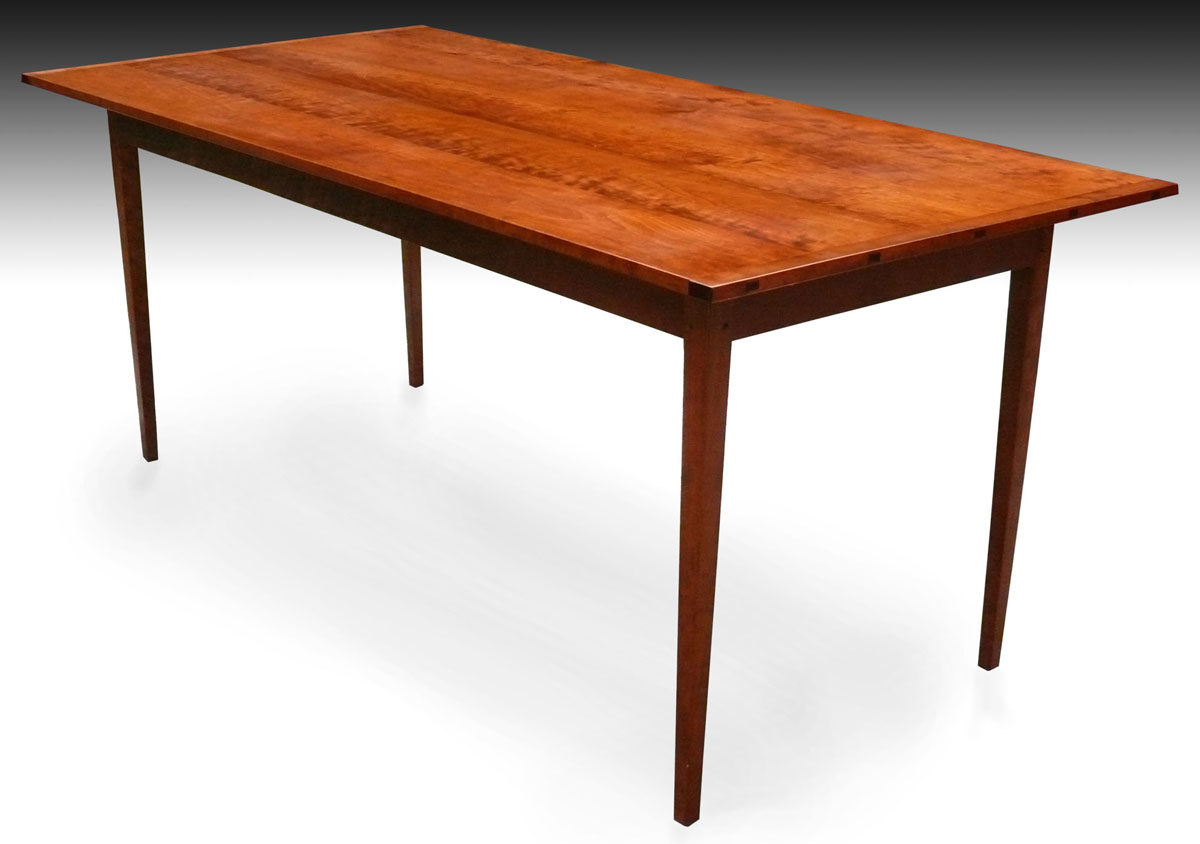 Shaker Tapered-leg Dining Table, Cherry