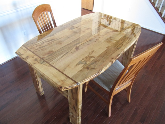 Ambrosia Spalted Maple Dining Table FineWoodworking