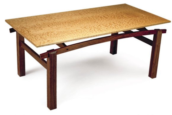 Quilted Maple and Cocobolo Coffee Table   FineWoodworking Article Image