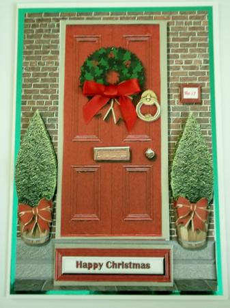 Christmas Front Door 3D Decoupage CUP35582815