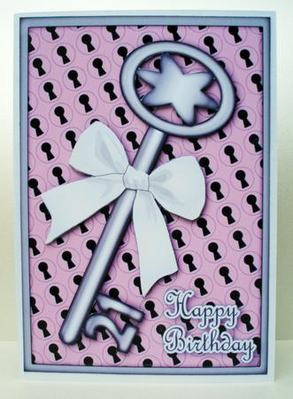21st Birthday Key Decoupage CUP294789750 Craftsuprint