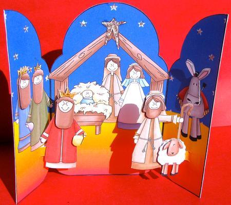 Gatefold Pop Up Christmas Nativity CUP10279468