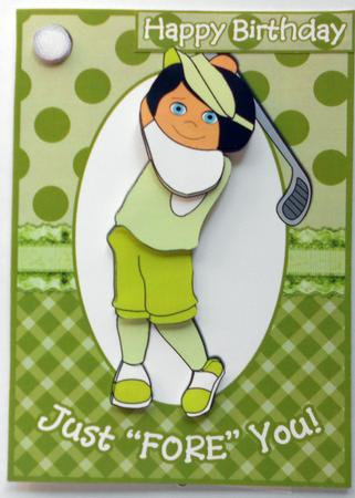Just Fore You Card For Lady Golfer CUP428243601