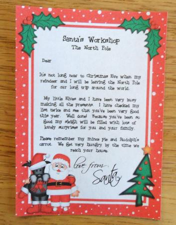 Christmas Santa Amp Scottie Dog A4 Childs Letter From Santa