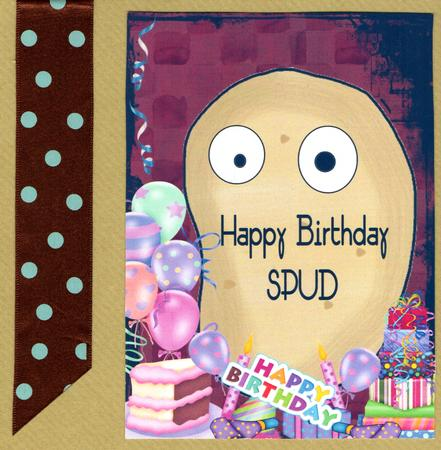 Happy Birthday Spud Topper CUP344299539 Craftsuprint