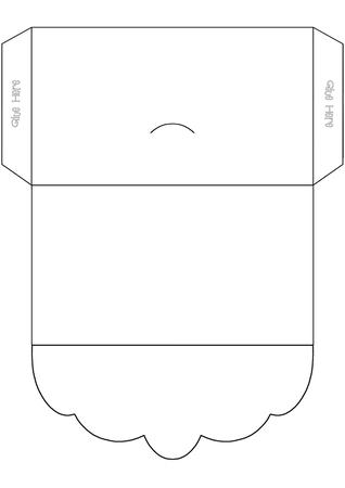 Scalloped Flap Money Wallet Template CUP137960614