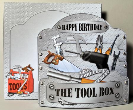 3D DIY Handyman Tools Pop Out Card Kit CUP252209359