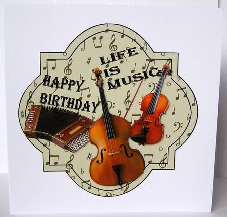 Music Happy Birthday Male Card - CUP262709_936 | Craftsuprint